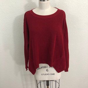 Planet by Lauren G Sweater One Size Red Lagenlook
